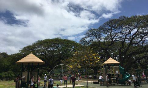 ホノルル動物園の子供が遊べるスペース